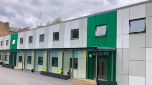 Temporary Modular School façade