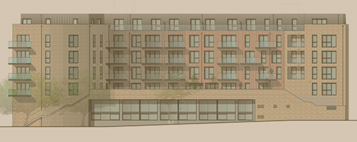 Hunt's Wharf side elevation